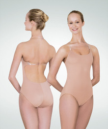 Body Liner Leotard w/ Clear Straps