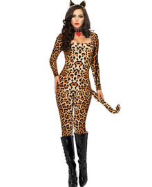 Cougar Cat Suit Leopard Print