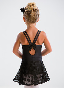 Bow Back 4-Strap Camisole Leotard
