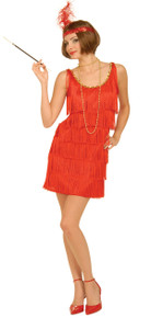 20's Flapper Dress Red