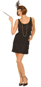 20's Flapper Dress Black