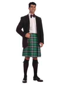 Gentleman's Kilt Green Plaid