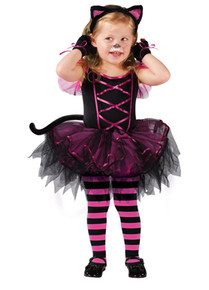 Catarina Cat Kids Costume Pink & Black