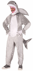 Shark Adult Costume with Open Face