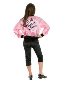 Pink Ladies Jacket Kid's Satin