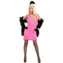 20's Fashion Flapper Dress-Pink
