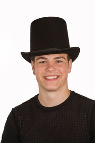 Deluxe Black Felt Tall Top Hat