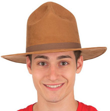 /brown-faux-suede-ranger-hat/