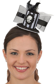 /striped-mini-top-hat-on-a-headbad-w-skeleton-cameo/