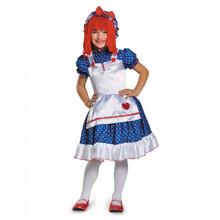 Raggedy Ann Kids Costume w/ Wig