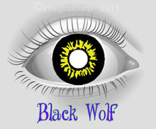 Black Wolf Weighted Collectible Novelty Lenses