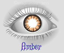 Amber Orange Theatrical Novelty Lenses