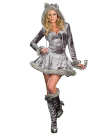 Big Bad Sexy Wolf Hooded Dress & Boot Covers (7497)