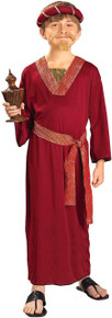 Wiseman Costume Kids Burgandy Biblical Times