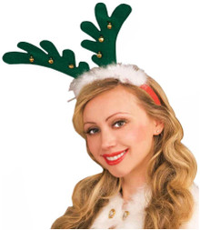 /reindeer-antlers-red-with-bells-on-a-green-headband/