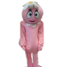 Pink Flower Girl Plush Mascot