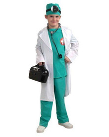 Chief Surgeon Kids Costume 4pc