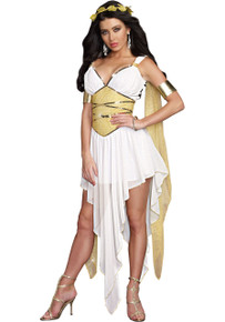 Goddess of Delight Greek Dress w/ Arm Bands & Headpiece