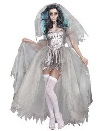 Bride of Doom Undead Skeleton Wedding Dress (9945)