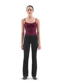 Ladies Black V-Front Jazz Pants Regular Length