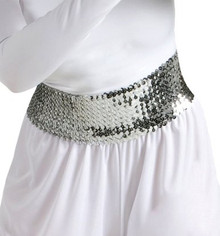 "Stretchy 4"" Wide Sequin Belt Assorted Colors"
