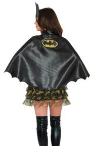 /ladies-batgirl-cape-w-glitter-logo/