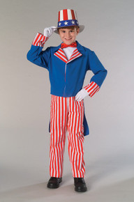 Uncle Sam Costume Kids 4th of July (883349)
