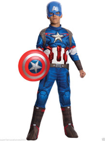 Avengers Captain America Kids Muscle Suit Licensed Age of Ultron