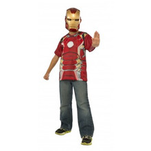 Avengers Kids Iron Man Shirt & Mask Licensed Age of Ultron