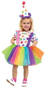 Big Top Fun Toddler Girl's Clown Costume (111091)