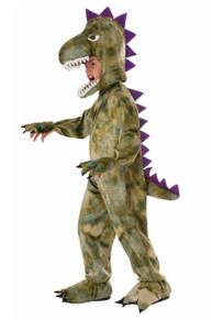 Dinosaur Costume Kids Green Open Face