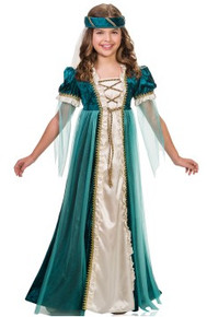 Emerald Juliet Girl's Dress w/ Headpiece