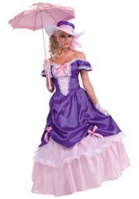 Blossom Southern Belle Girl's Pink & Purple Dress