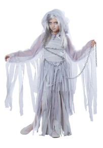 Haunted Beauty Girl's Ghost Dress w/ Chains
