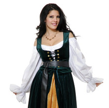 Country Wench Solid Velvet Corset Bodice (02771CHA)