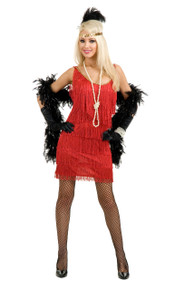 20's Plus Size Fashion Flapper Fringed Dress