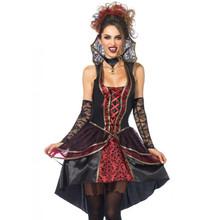Vampire Queen Ladies Black & Red Dress