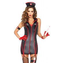 Heart Stoppin' Black & Red RN Sexy Medical Costume Set (85402)