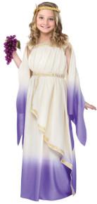 Roman Lavender Goddess Girl's Dress