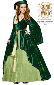 Gone With the Wind Scarlett O' Hara Green Deluxe Curtain Dress w/ Drapery Cord Belt (104114)