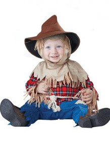 Silly Scarecrow Infant Romper w/ Hood