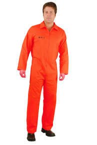 Convict Plus Size Orange Prison Jumpsuit