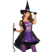 Crafty Vixen Purple & Black Witch Dress w/Hat (85378)