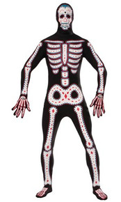 Disappearing Man Day of the Dead Adult Costume