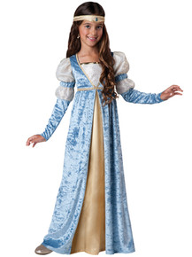 Renissance Maiden Girl's Blue Princess Dress