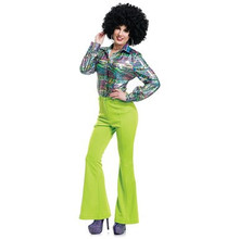 70's Disco Pants - Lime Green (01992GRN)