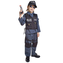 S.W.A.T. Police Kids Costume 4pc Set
