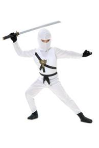 White Ninja Avengers Kids Costume Set
