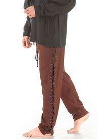 Lace-up Pirate Pants Chocolate