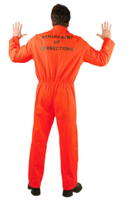 Convict Orange Prison Jumpsuit Adult Sizes